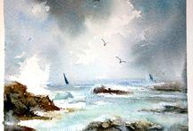 Akvarellimaalauksia