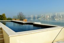 Skyline View Swimming Pool / Modern swimming pool design in Weehawken NJ with views of the Hudson River and NYC Skyline