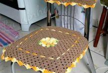 assessórios para cozinha em crochê.