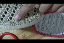 papuci crosetati dama