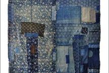 Textiles kantha vintage dye