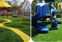 Artificial Turf for Athletics, Playgrounds, and Recreation / Artificial turf is great for athletic, playground, and recreation projects!