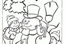 Tegne jul / Juletegninger klare til fargelegging
