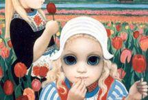 maalaus ja suuret silmät