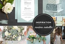 {Styled Shoot} Mint, Navy and Silver Sweet Table