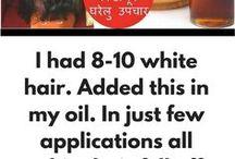 oil to make white hair to black