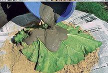 molde de hojas