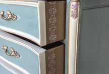 chalk painted furniture / Duck egg blue - BEAUTIFUL