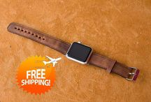 %20 Discount Code Genuine Leather Apple Watch Band / Handmade product, %100 Genuine Leather