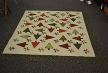 Quilting - Triangles, Flying Geese Quilts / Quilts made from triangle shapes.