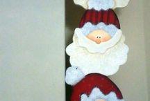 Apliques Navidad Madera