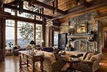 salas con chimeneas