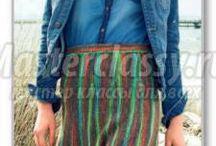 Вязаные спицами юбки