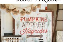 "Fall Home Decor Ideas / Every year the ""Fall Fairy"" comes to visit our house around September 1 while the kids are at school.  I'm always collecting easy DIY home decor and craft ideas for fall - including Halloween and Thanksgiving, but those will have separate boards."