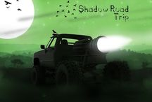 Dystopian Monster Noir Truck Adventure / Looking for some cool Noir graphics game? Well look no further! we present to you here Shadow Road Trip. You will race in a Dystopian Universe with Monster Trucks.