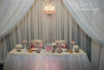 Vintage sweetheart table / Vintage inspired sweetheart table