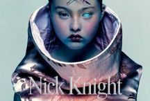 NICK KNIGHT - PHOTOGRAPHER / Very digitally manipulated imagery, often portraying movement within the body, use of lighting on the body, or digital manipulation of the body to create a fantasy/ futuristic characters. Very dramatic feel to photographs, using conceptual clothing to reflect fantasy feel of imagery.