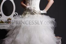 Ball Gown Wedding Dresses / Bridal dresses featuring a ball gown skirt.