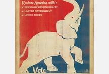 Republican Party (GOP). / Republican Party  Gop Political History in America.