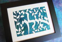 Hebrew Names / Hebrew names in Jewish papercut art...