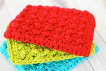 crochet dish clothes & pot holders