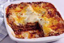 Meat lasagne.