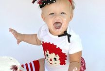 Avas First Birthday Raggedy Ann and Andy