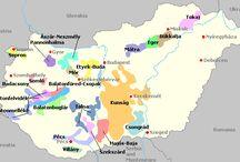 Hungary - wine maps