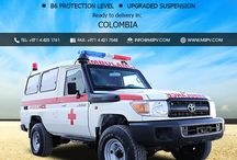 Armored/Bulletproof Ambulance Colombia / Armoured or Bulletproof Ambulances Colombia-MSPV Armoured or Bulletproof Ambulance provides a lot of protection to the medical teams and patient, who need a medical solution during shootings or terrorist attacks.  MSPV provides a wide selection of ballistic armoring and ambulance configurations that can be customized to suit specific requirements. For more information, contact us at +971 4 425 1761 or draft emails on info@mspv.com or visit http://www.mspv.com