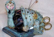 Ma collection de ciseaux et bobines décorées