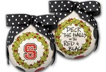 Christmas in Red and White / NC State Christmas ornaments, decor, and more!
