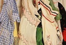 Vintage aprons/tea towels / by Judy Davis