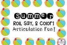 Summer / Summer themed speech and language activities
