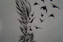 tetování ptáci