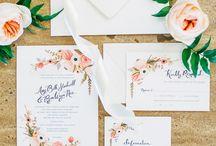 Invitations | WEDDINGS / pozvánky všech druhů, tvarů a barev