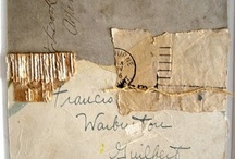 Collage: Cartas y sellos. Letters  and stamps