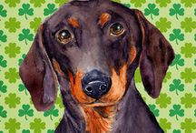 Doxies, for Bailey and Bella