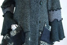 Sweater Coat, Grey and Black Tweed, Snowflake, Petunia Style, Size Medium- Large…