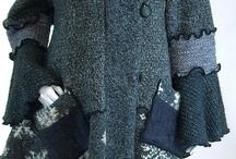 Sweater Coat, Grey and Black Tweed, Snowflake, Petunia Style, Size Medium- Large…