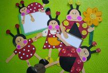 Ladybug and bee crafts