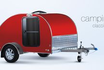 Alpha Mini-Caravan / Mini-caravan Alpha is considered a classic among caravans. The main advantage of the teardrop Alpha caravan is a large sleeping compartment for two or three persons, which contains ventilation system for better ventilation offering more comfortable sleeping. Size of the storage space is definitely a pleasant surprise. The rear part, which is separated from the sleeping compartment, contains a small kitchen with worktop. Owners have the opportunity to select additional accessories as required.