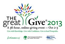 The Great Give® 2013 / The Great Give® 2013 is the fourth major community-wide giving event through giveGreater.org® taking place for 36 hours on October 2-3. Incentives will once again encourage giving to nonprofits profiled on giveGreater.org® in a highly-watched atmosphere.