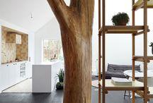 Poteau tronc / La végétation comme inspiration architecturale