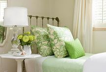 Bedrooms / Clean and Calming, my main criteria for a bedroom...ideas, organization, colors, bedding, window coverings...