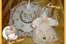 ✿⊱╮Bambole di stoffa - Angioletto Lucia ✿⊱╮ / Angioletto Lucia. Regalo per la nascita, onomastico, compleanno, Comunione, Cresima di Lucia e per festeggiare il 13 dicembre.