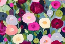 Blomsterbilder - flower paintings