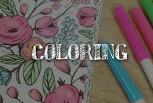 Moore: Coloring / We get it! You love to color. Use all the crayons – or markers, or colored pencils – in the box to create your next masterpiece with the coloring book pages on this board. It's the newest, hottest trend great for relaxing or art therapy.
