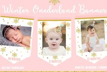 Winter Onederland Birthday Ideas Gold and Pink / Winter onederland birthday ideas in gold and pink invitations party outfits cakes for a beautiful first birthday!