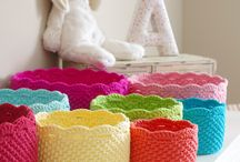Crocheting-Baskets