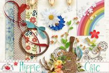 Hippie Chic Collection / A beautiful bohemian style digital scrapbook collection.